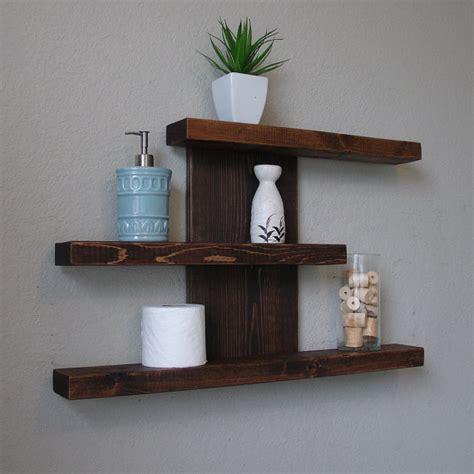 rustic modern 3 tier floating shelf