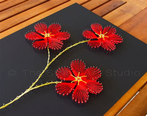 String Flower Patterns - string flowers plumeria string by