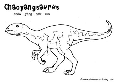 dinosaur coloring pages with names chaoyangsaurus coloring