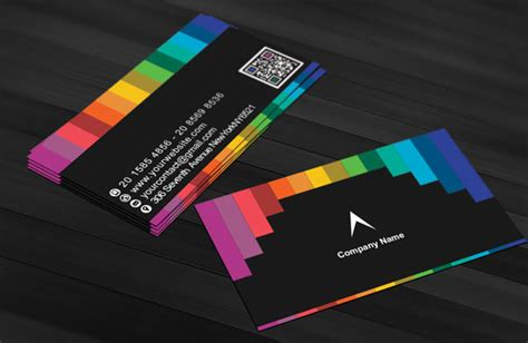colored line template business cards business card free
