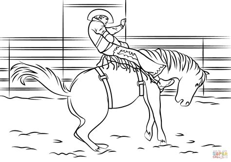 Rodeo Coloring Pages saddle bronc rodeo coloring page free printable coloring