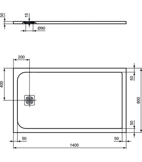 piatto doccia filo pavimento ideal standard piatto doccia 140x80 grigio cemento ideal standard