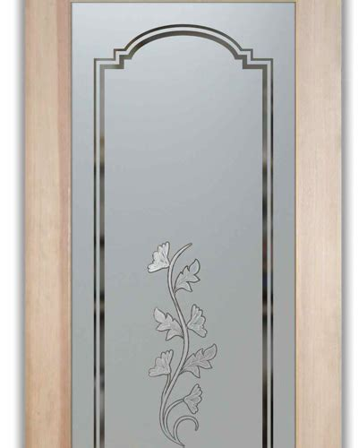 Glass Pantry Door With Frosted Glass Oak Leaves 3d Glass Pantry Doors With Frosted Glass