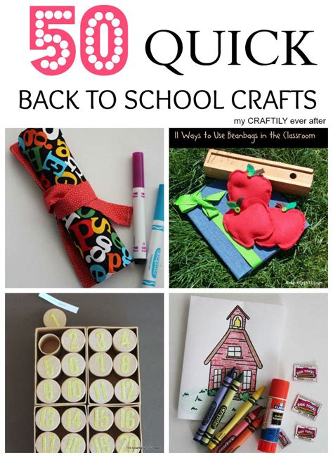 school crafts for 50 back to school crafts my craftily after