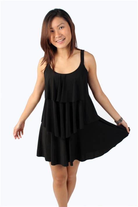 Lyrna Dress by Lycra Tier Dress The Label Junkie