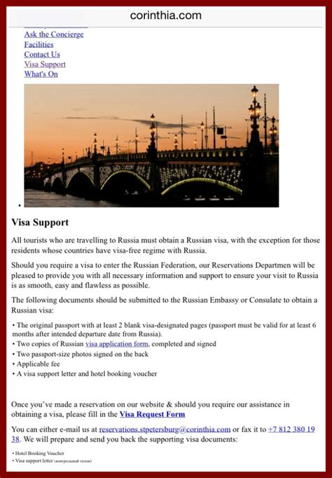 Visa Support Letter For Russian Visa How To Get A Russian Visa From The Uk The Culture Map