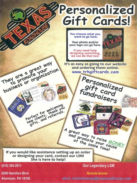 Branded Gift Cards - free 5 00 co branded gift cards from texas roadhouse trexlertown lehigh valley
