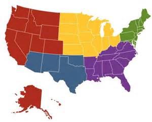 united states 5 regions map quotes
