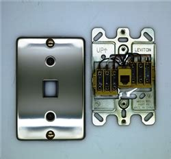 40226 00s Wall Phone Faceplate Leviton Rj12 Stainless Steel