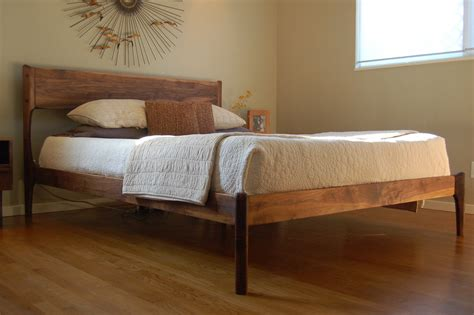 modern queen beds mid century danish modern queen bed
