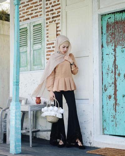 Celana Kulot Rumbai contek gaya aghnia punjabi memakai celana rumbai kekinian