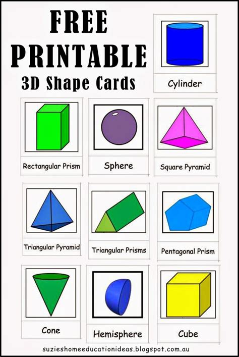 printable 3d shapes poster 25 best ideas about shape names on pinterest six sided