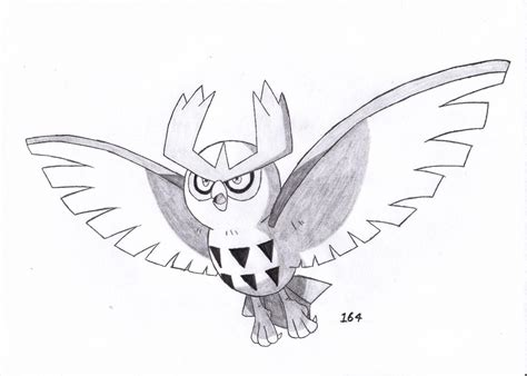 noctowl pokemon coloring pages 164 noctowl by sorasonic on deviantart