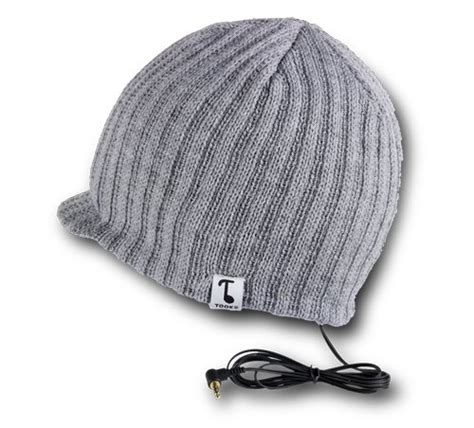 Tooks Beanies With Built In Headphones by Tooks Vizor Headphone Beanie Hat With Built In Removable