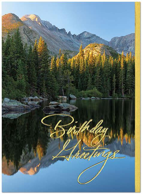 Mountain Gift Card - mountain reflection birthday card scenic birthday cards posty cards