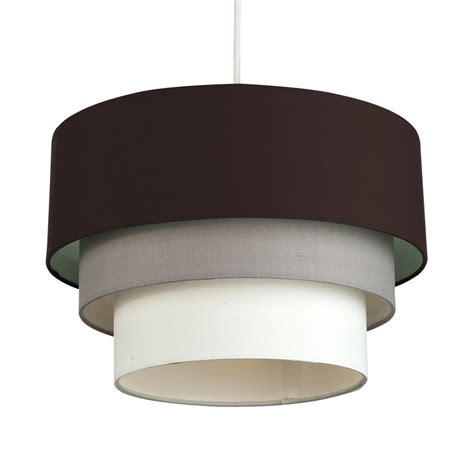 brown ceiling light shades modern 3 tier brown grey white ceiling pendant light