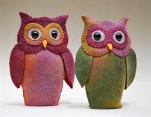 how to make a felt owl felt