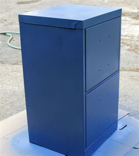 Blue Filing Cabinet by Paint A File Cabinet Blue 5 Rev 187 Dollar Store Crafts