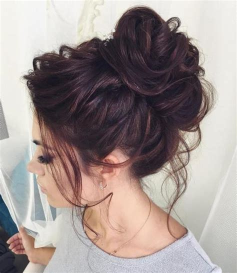 messy bun without shaved side showing 40 updos for long hair easy and cute updos for 2018