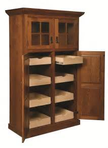 Wood Pantry Cabinet For Kitchen Amish Mission Rustic Kitchen Pantry Storage Cupboard Roll