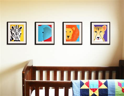 Safari Nursery Art Jungle Nursery Wall Art Set Of Any By Wall Decor For Nursery