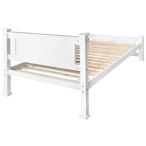 King Single Size Bed Frame King Single Size Pine Wooden Bed Frame In White Buy 30 50 Sale