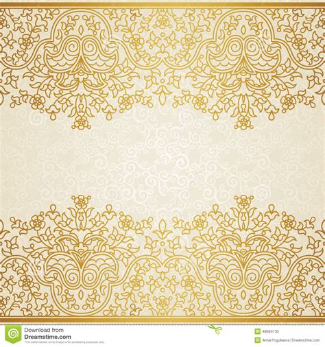 Wedding Border Patterns by Vector Floral Border In Eastern Style Stock Vector