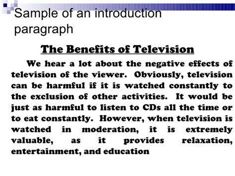 Essay About Television by 5 Para Essay Structure