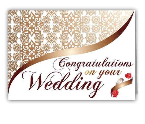 married card template personalized greetings to congratulate on wedding giftsmate