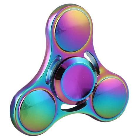 Fidget Spinner Ufo Premium Rainbow Murah zinc alloy rainbow fidget spinner orb ufo
