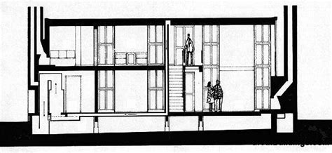 esherick house section grandes edificios dibujo esherick casa arquitectura