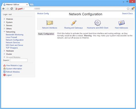 tutorial webmin linux webmin centos 6 centos
