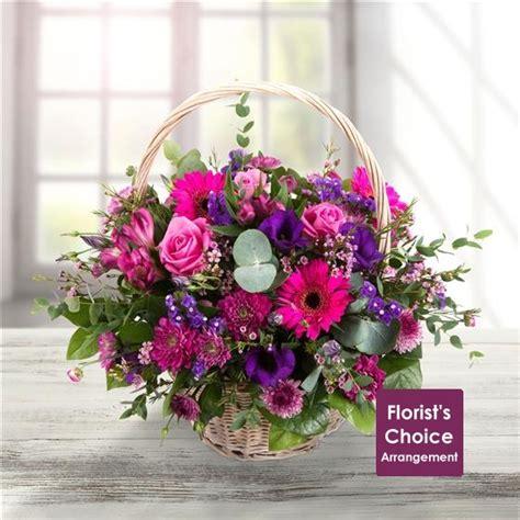 Send Flowers Uk by Florist Choice Basket Arrangement We Are Florists Send