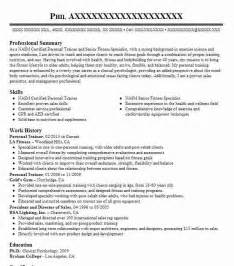 Pilates Instructor Sle Resume by Pilates Instructor Resume Resume 15 Prandini 2014 Sle Resume For Hospitality Industry