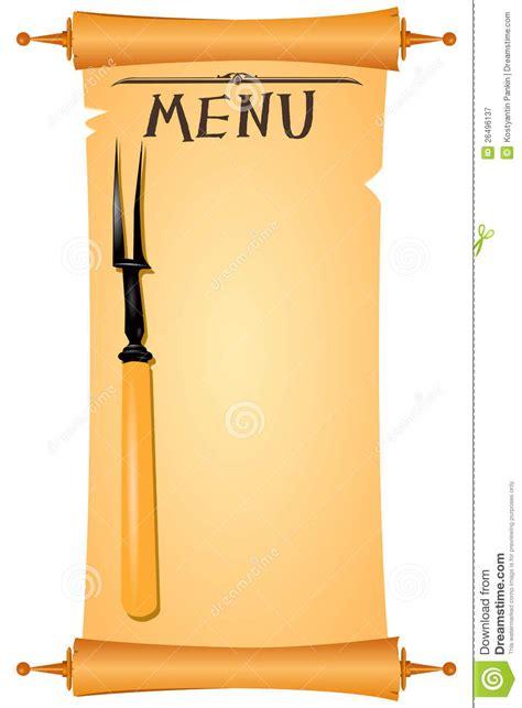 cornici per menu ristorante menu della pergamena fotografia stock libera da diritti