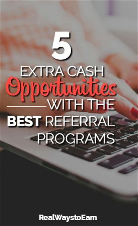 Make Money Online Without Referrals - 5 extra cash opportunities with the absolute best referral programs