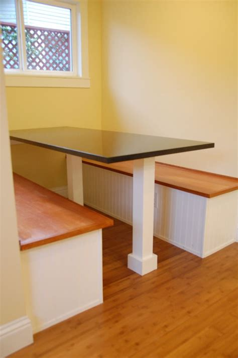 diy corner bench kitchen table crafted custom built in breakfast nook by dagan