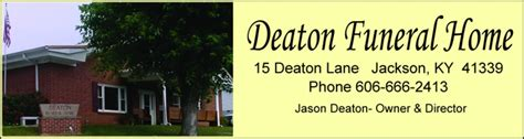 obituaries deaton funeral home