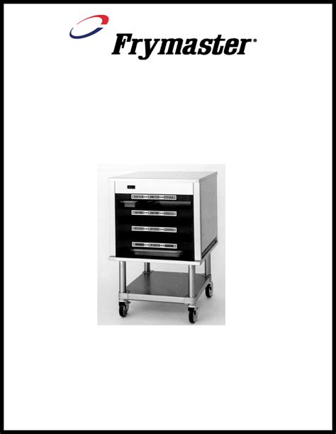 Uhc Cabinet by Frymaster Fryer Universal Holding Cabinet User Guide