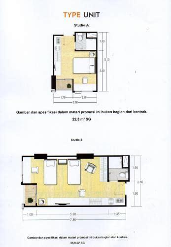 layout apartemen kalibata dijual apartemen taman melati yogyakarta type studio
