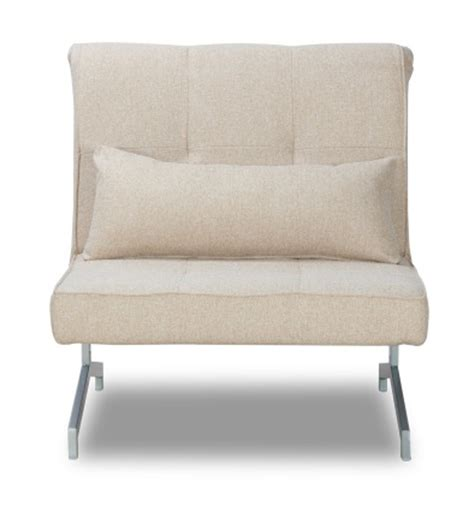 compact and foldable beige single sofa bed by mudra