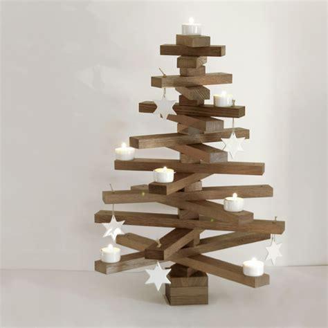 weihnachtsbaum aus holz tannenbaum basteln 30 kreative diy ideen f 252 r