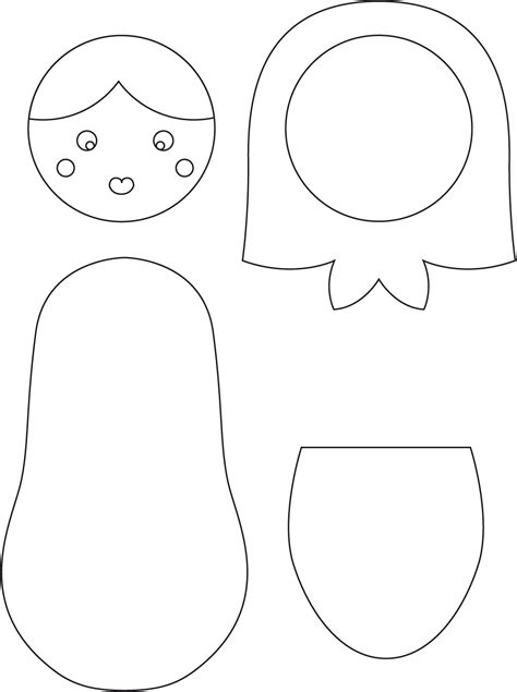 best photos of nesting doll template free printable