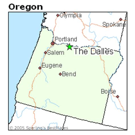 the dalles oregon map best places to live in the dalles oregon