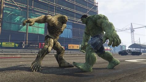 mod gta 5 ps3 hulk gta v hulk vs abomination enemy hulk script mod by