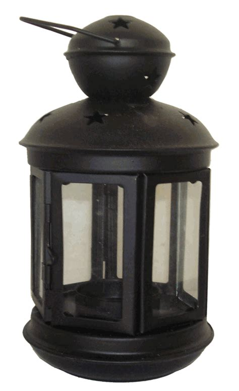 decorative hexagon candle lantern black 6 5 quot height