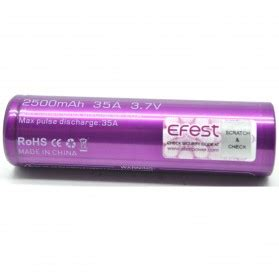 Efest Purple Imr 26650 Li Mn Battery 3500mah 3 7v 64a With Flat Top 26650v1 efest purple imr 26500 li mn battery 3000mah 3 7v 24a 48a with flat top purple