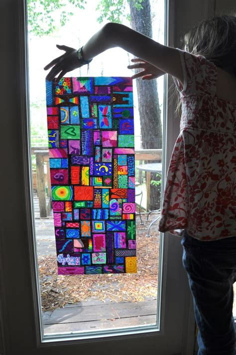 How To Make Stained Glass With Wax Paper - sharpie on waxed paper quot stained glass quot sharpie anyone