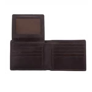 gianni conti leather tri fold wallet for men in brown