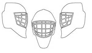 goalie mask painting template show it mask version goalie store bulletin board